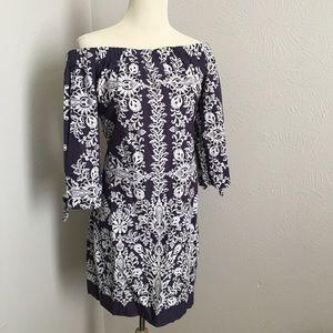 Vince Camuto off-the-shoulder floral print dress